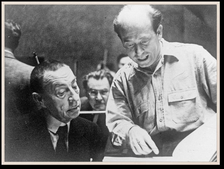 Сергей Рахманинов и Юджин Орманди на репетиции «Симфонических танцев».1940 год Российский национальный музей музыки, Москва