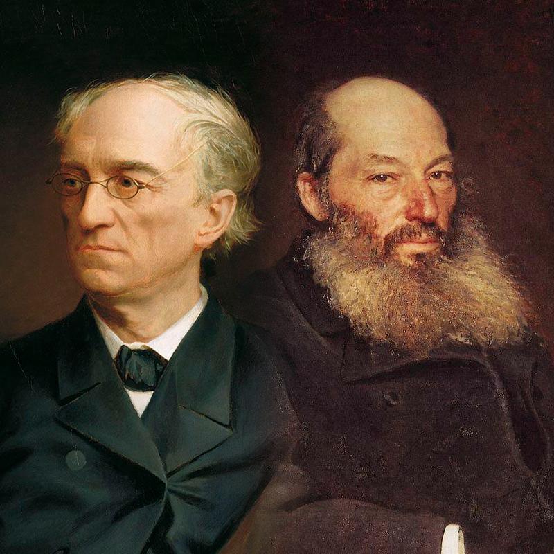 А. Фет и Ф. Тютчев. Фото: https://www.culture.ru/s/vopros/tyutchev-i-fet/